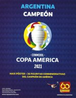 Comnebol Copa America 2021 Argentina Campéon Poster - Panini