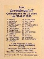 WM 1990 La Vache Qui Rit Edition - Panini
