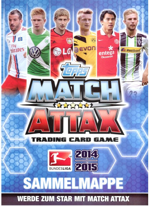 Pack 10 cartes Topps Match Attax EXTRA Football trading cards 2014//15